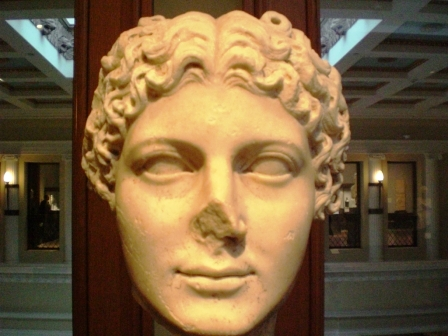 Empress Agrippina the Younger, marble bust, Getty Villa