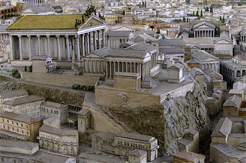 Temple of Jupiter Best and Greatest, Capitoline Hill, Rome, reconstructed image