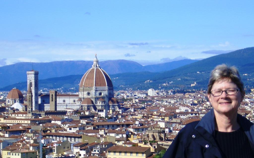 The View of the Duomo from  the Piazzale Michelangelo, Florence Italy